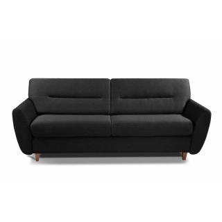 COPENHAGUE divano in tessuto tweed nero sistema letto RAPIDO 120cm materasso 15cm