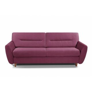COPENHAGUE divano in tessuto tweed rosa sistema letto RAPIDO 120cm materasso 15cm