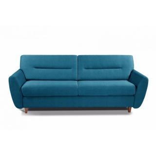 COPENHAGUE divano in tessuto tweed blu turchese sistema letto RAPIDO 120cm materasso 15cm