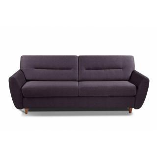 COPENHAGUE divano in tessuto tweed viola sistema letto RAPIDO 120cm materasso 15cm