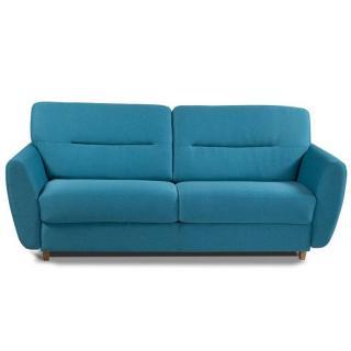Canapé convertible ouverture RAPIDO COPENHAGUE tissu turquoise Couchage 140*200*15cm Sommier lattes RENATONISI