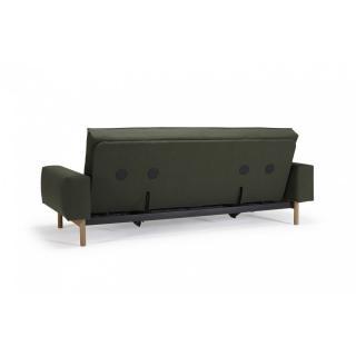 Canapé design mulitfonction MIMER convertible lit 140*200cm tissu Twist Dark Green