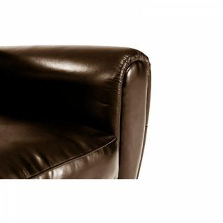 Canapé CLUB 2 places en polyuréthane marron brillant MADE IN ITALY
