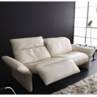 Canapé relax manuel 2 places haut de gamme ELENA de KOINOR dossiers et accoudoirs réglables