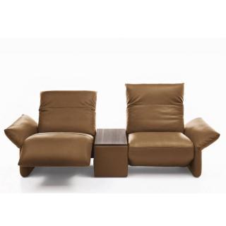 Canapé relax manuel 2 places haut de gamme ELENA de KOINOR 260 cm avec table intégrée