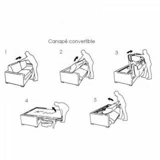 Canapé lit 4-5 places ECLIPSE XXL convertible EXPRESS couchage 180 cm matelas 18cm sommier lattes