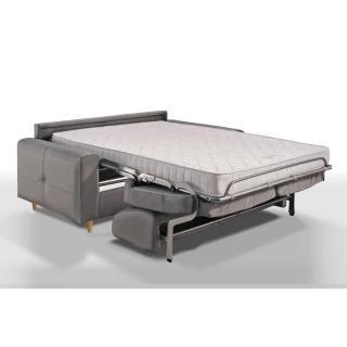 Canapé convertible ALMUT 140cm matelas 14cm système rapido sommier lattes RENATONISI