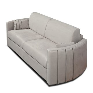 Canapé lit express CAPRI couchage 120 cm sommier lattes matelas 16 cm accoudoirs stylisés