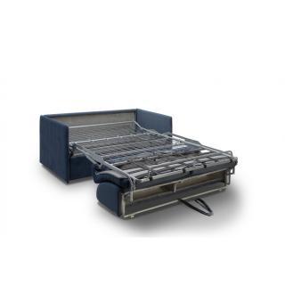 Canapé lit express COLOSSE couchage 140 cm matelas épaisseur 22 cm à mémoire de forme velours bleu marine