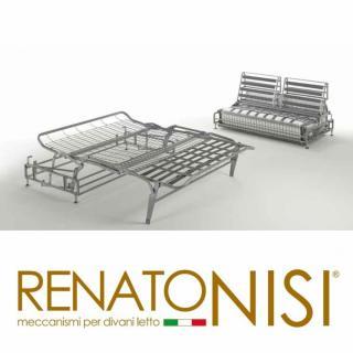 Canapé lit express COLOSSE couchage 140 cm matelas épaisseur 22 cm à mémoire de forme velours gris anthracite