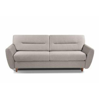 COPENHAGUE divano in tessuto tweed crema sistema letto RAPIDO 120cm materasso 15cm