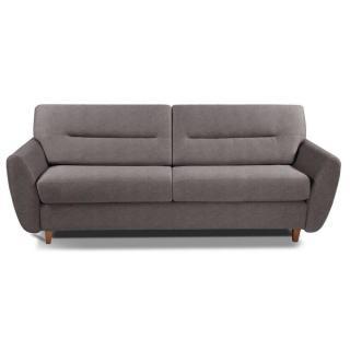 COPENHAGUE divano in microfibra talpa sistema letto RAPIDO 120cm materasso 15cm