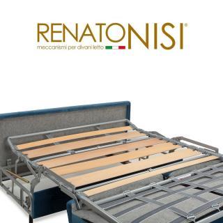 Canapé convertible rapido VENDOME matelas 120cm comfort BULTEX® 16cm sommier lattes RENATONISI et tête de lit intégrée