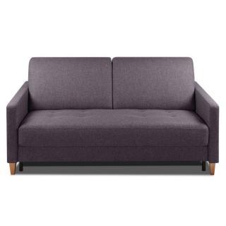 Canapé convertible OGGETTO matelas 14cm système rapido sommier lattes 160cm RENATONISI tissu tweed violet