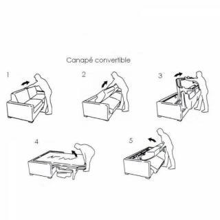 Canapé convertible ouverture EXPRESS NORDIC Couchage 160cm matelas 14cm
