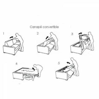 Canapé convertible OGGETTO matelas 14cm système rapido sommier lattes 160cm RENATONISI