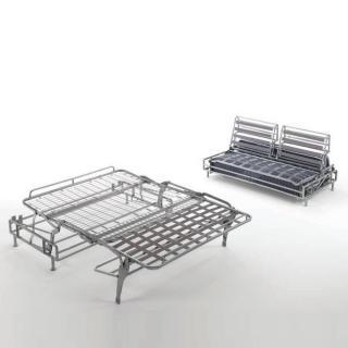 Canapé convertible express STYLE matelas mémory  20 cm métal 160 cm mono assise