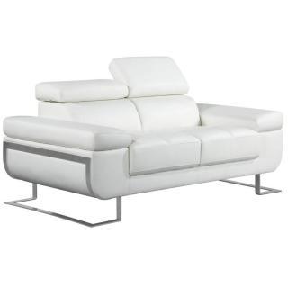 Canapé 2 places en cuir FRATTA