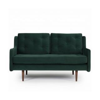 Canapé 2 places design scandinave HORTE piétement en chêne teinté noyer
