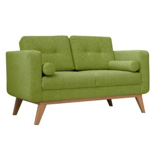 Canapé fixe 2 places HEDVIG tissu vert lime style scandinave