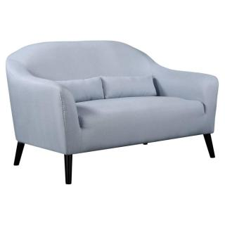 Canapé 2 places style scandinave IGEA tissu tweed bleu clair