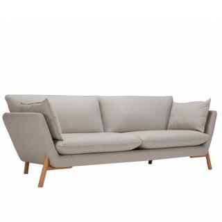Canapé HOME 3 places piétement bois chêne clair