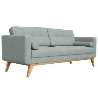 Canapé fixe 3 places HEDVIG tissu vert d'eau style scandinave