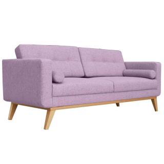 Canapé fixe 3 places HEDVIG tissu parme style scandinave