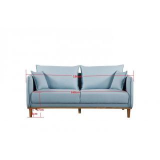 canap fixe confortable design au meilleur prix canap 3 places style scandinave lizzano. Black Bedroom Furniture Sets. Home Design Ideas