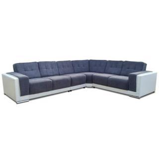 Canapé d'angle fixe réversible ARTE gris et blanc