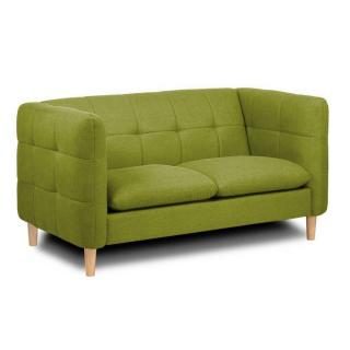 Canapé 2 places style scandinave GATTEO tissu tweed vert