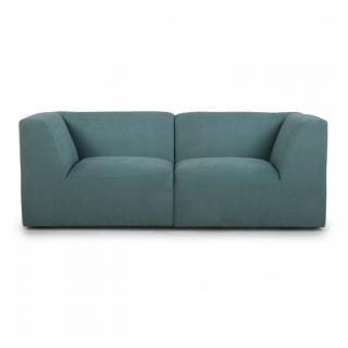 Canapé fixe 2/3 places modulable MOVE tissu Bleu Paon