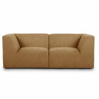 Canapé fixe 2/3 places modulable MOVE tissu Jaune Moutarde
