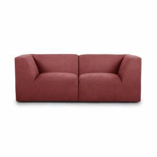 Canapé fixe 2/3 places modulable MOVE tissu Rouge