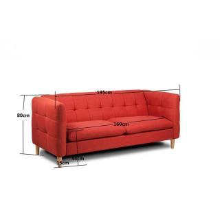 canap fixe confortable design au meilleur prix canap 3 places style scandinave gatteo. Black Bedroom Furniture Sets. Home Design Ideas