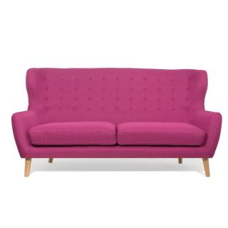 Canapé scandinave PERFEKT 3 places rose