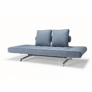Canapé design GHIA CHROME bleu Mixed Dance_Light Blue convertible lit 210*80