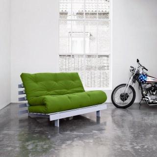 Canapé BZ gris ROOTS WHITE futon couchage 140*200cm