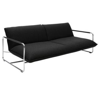 Canapé lit convertible design NOVA 3 places structure acier chromé  SOFTLINE