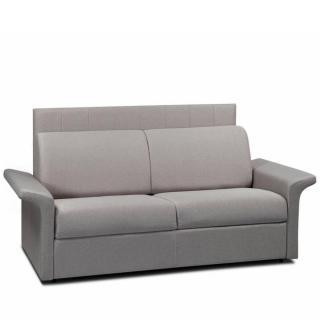 Canapé lit CASTEL RAPIDO sommier lattes 120cm matelas 16cm tête de lit intégrée