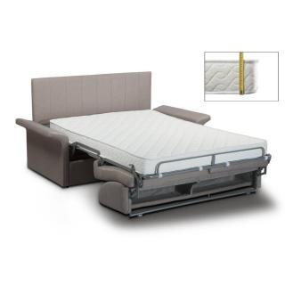 Canapé lit CASTEL EXPRESS sommier lattes 120cm matelas 16cm tête de lit intégrée