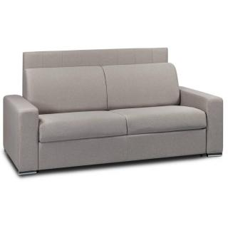 Canapé lit 3 places NORMANDIE 140cm OUVERTURE RAPIDO RENATONISI sommier lattes matelas 22cm tête de lit intégrée