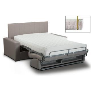 Canapé lit NORMANDIE 140cm EXPRESS  lattes matelas mémory  22cm tête de lit intégrée