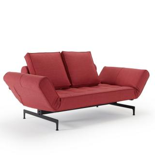 Canapé design GHIA LASER convertible lit 210*80cm tissu Twist Rust Red