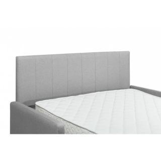 Canapé compact convertible avec tête de lit PLAZA matelas 16cm système express sommier lattes 160cm