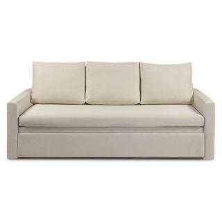 Canapé 3-4 places lit gigogne LIBERTY couchage 88*190 cm sommier lattes bois XL RENATONISI