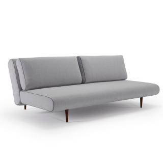 Canape lit design UNFURL LOUNGER convertible 200*140cm tissu Elegance Light Grey