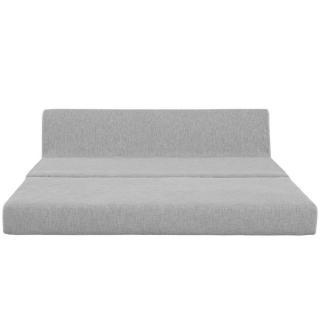 Convertible LOUNGE 3 places en tissu gris 160cm
