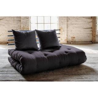 Canapé lit noir SHIN SANO futon grey graphite couchage 140*200cm