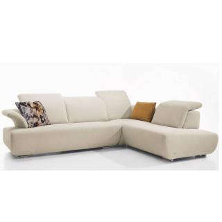 Canapé d'angle péninsule droite 2/3 places haut de gamme AVANTI de KOINOR 266cm dossiers réglables